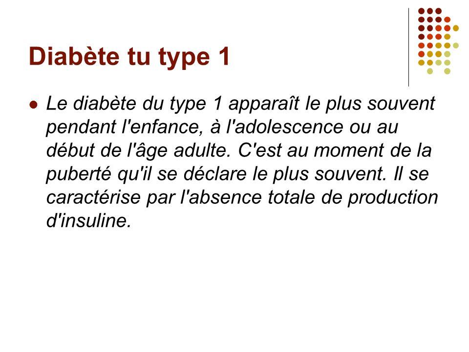 Diabète tu type 1