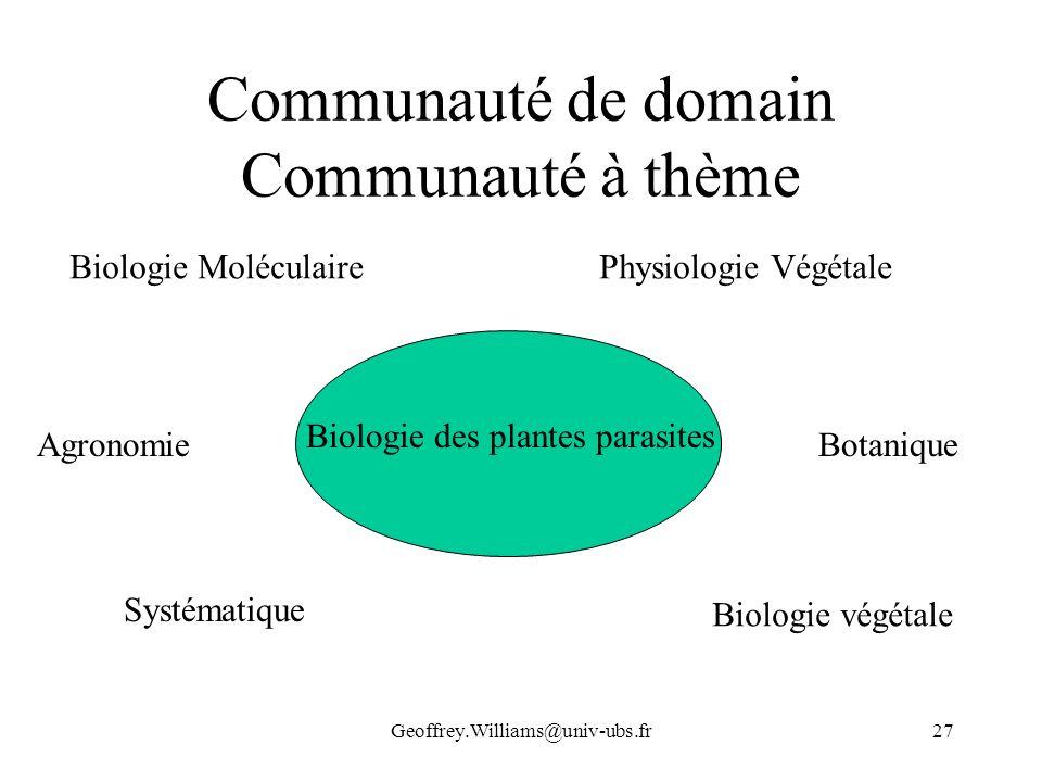 Communauté de domain Communauté à thème