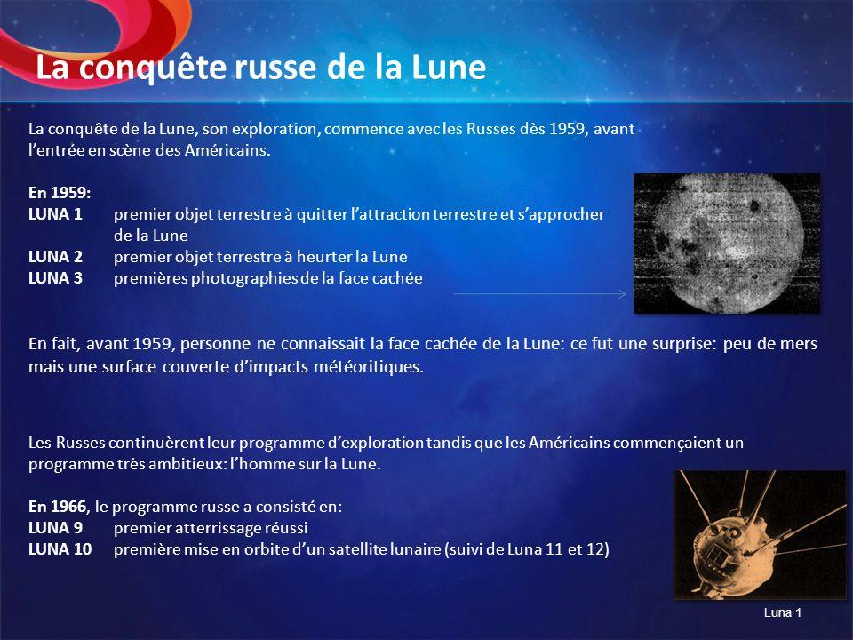 La conquête russe de la Lune