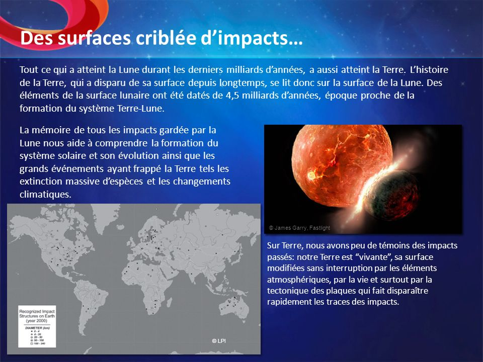 Des surfaces criblée d'impacts…