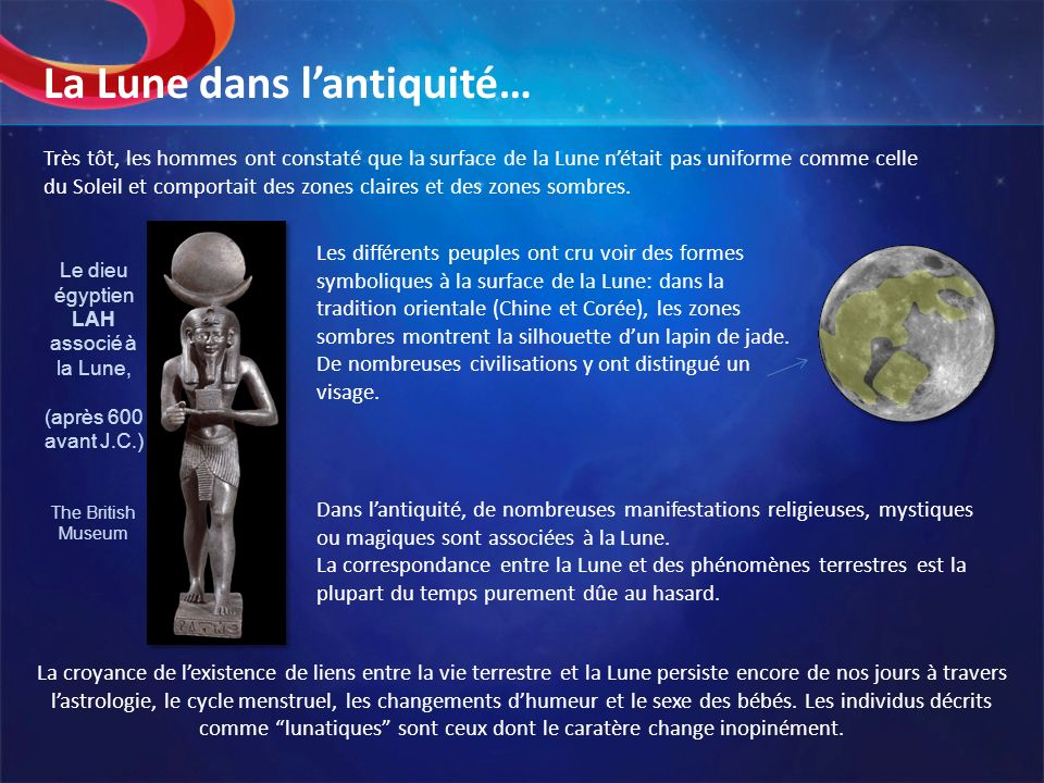 La Lune dans l'antiquité…