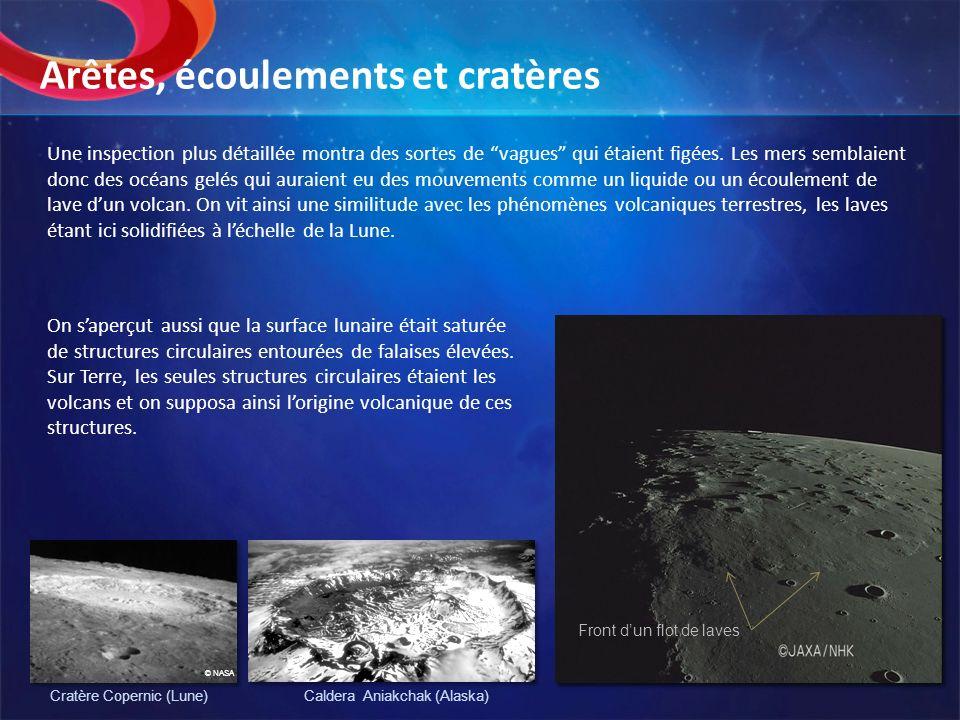 Arêtes, écoulements et cratères