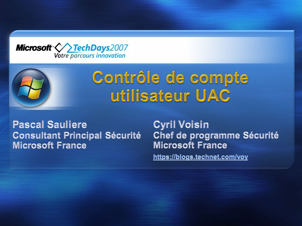 Contrôle de compte utilisateur UAC