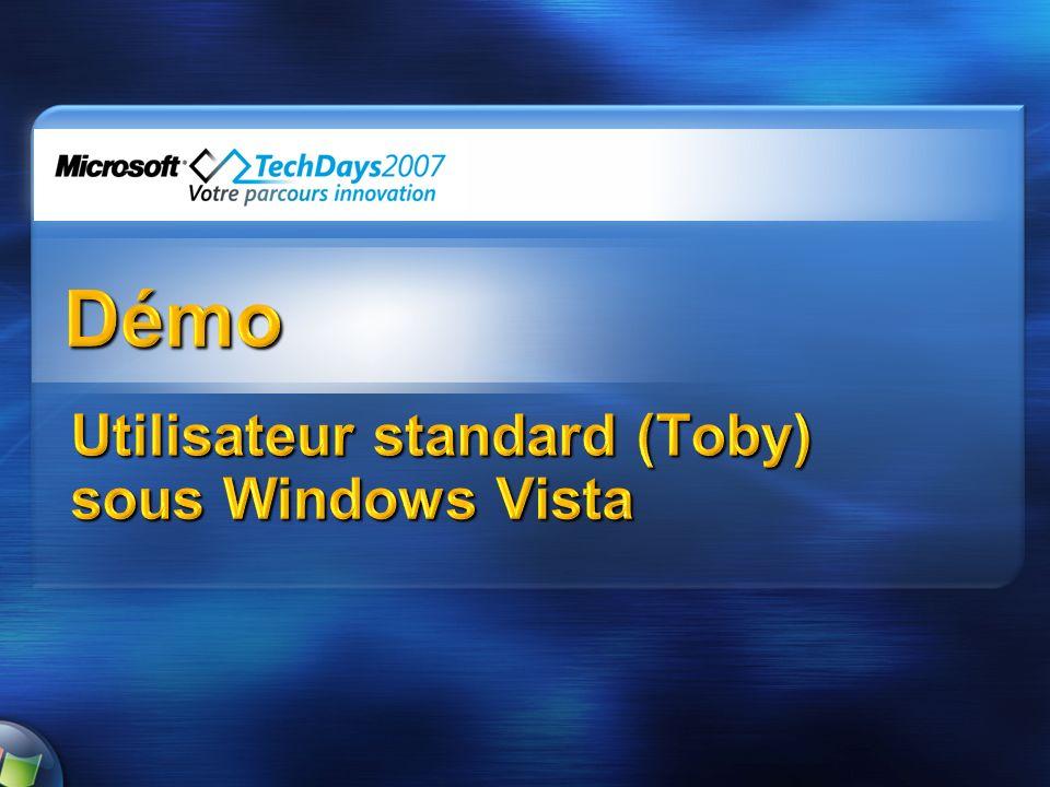 Utilisateur standard (Toby) sous Windows Vista