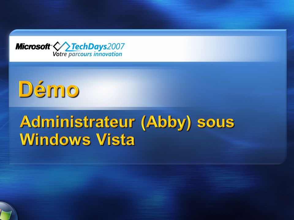 Administrateur (Abby) sous Windows Vista