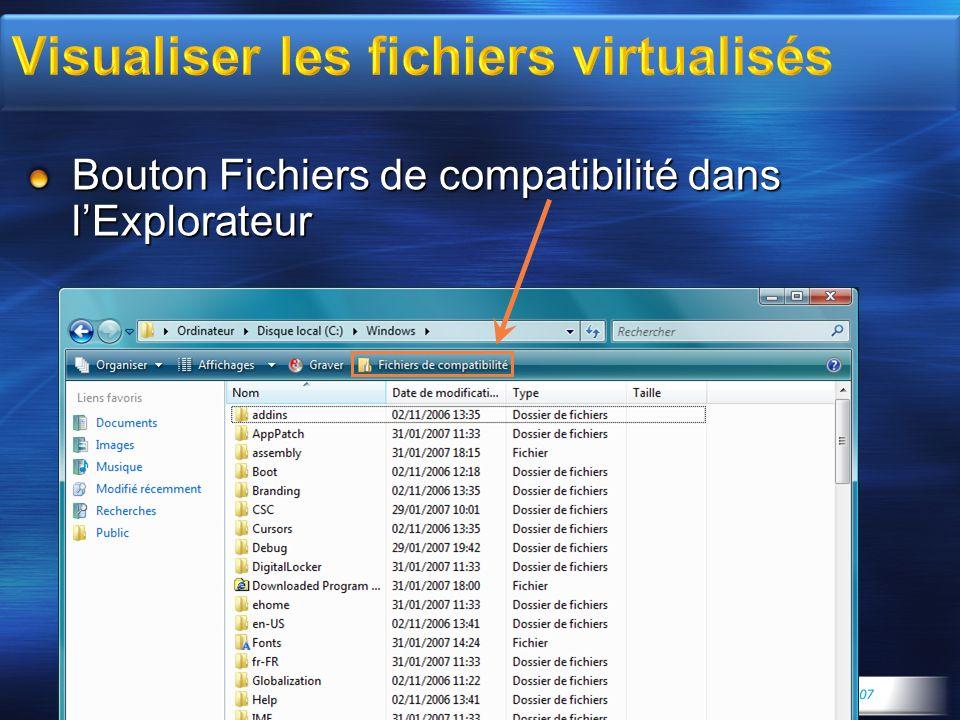 Visualiser les fichiers virtualisés