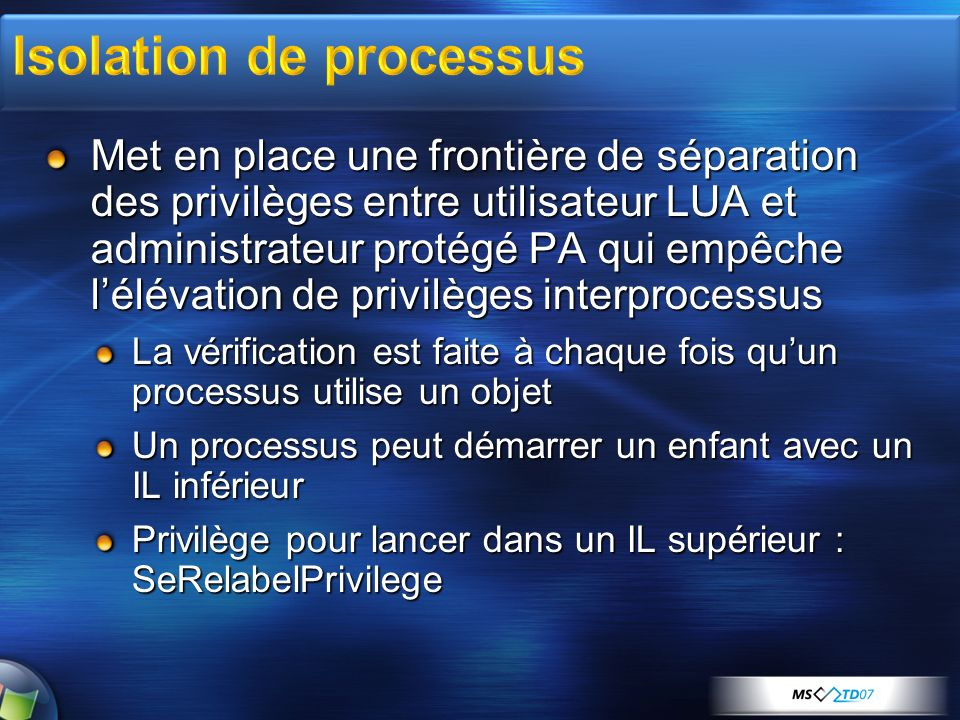 Isolation de processus