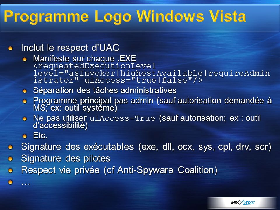 Programme Logo Windows Vista