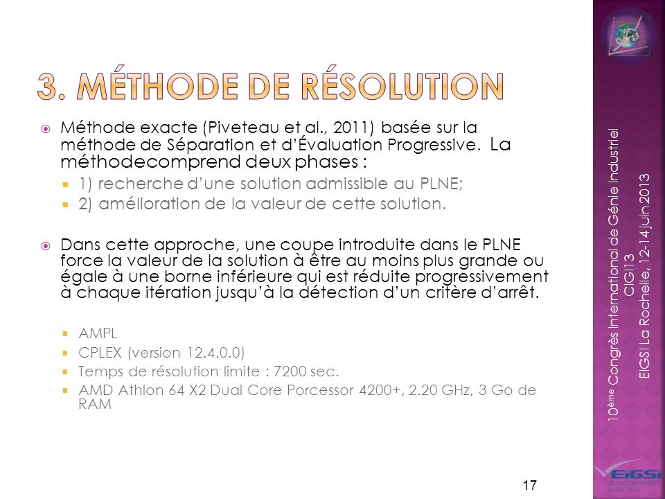 3. Méthode de résolution