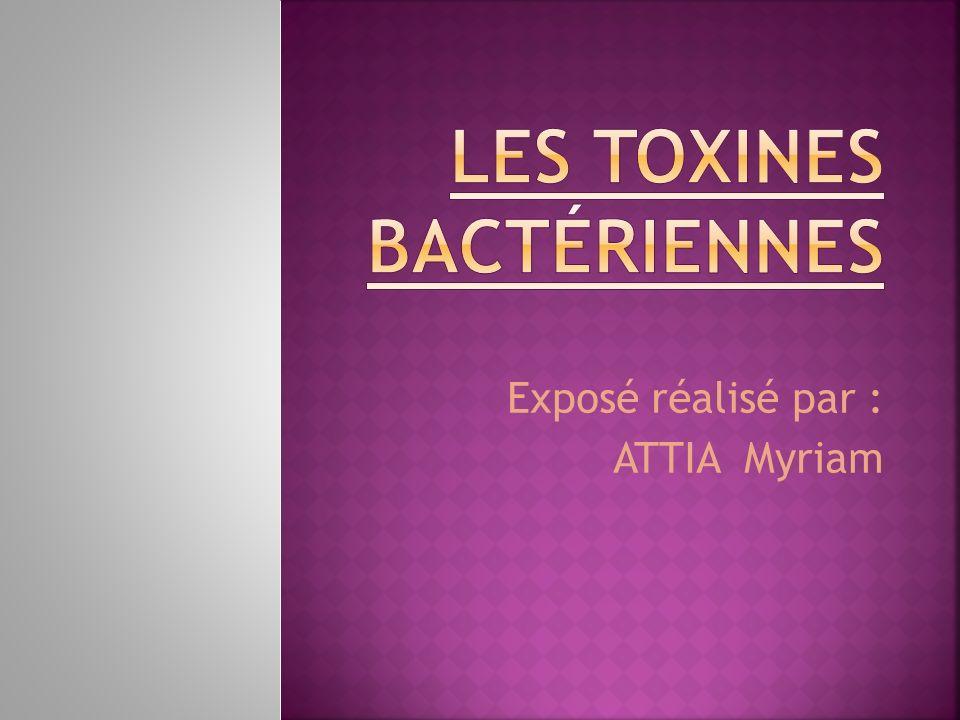 Les toxines bactériennes