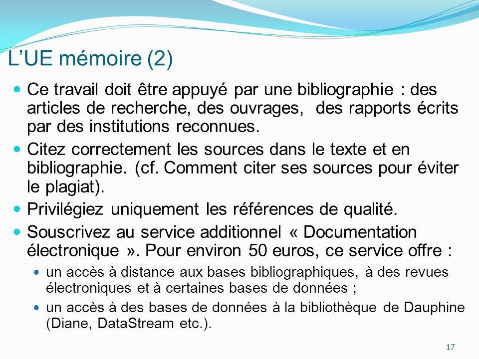 L'UE mémoire (2)