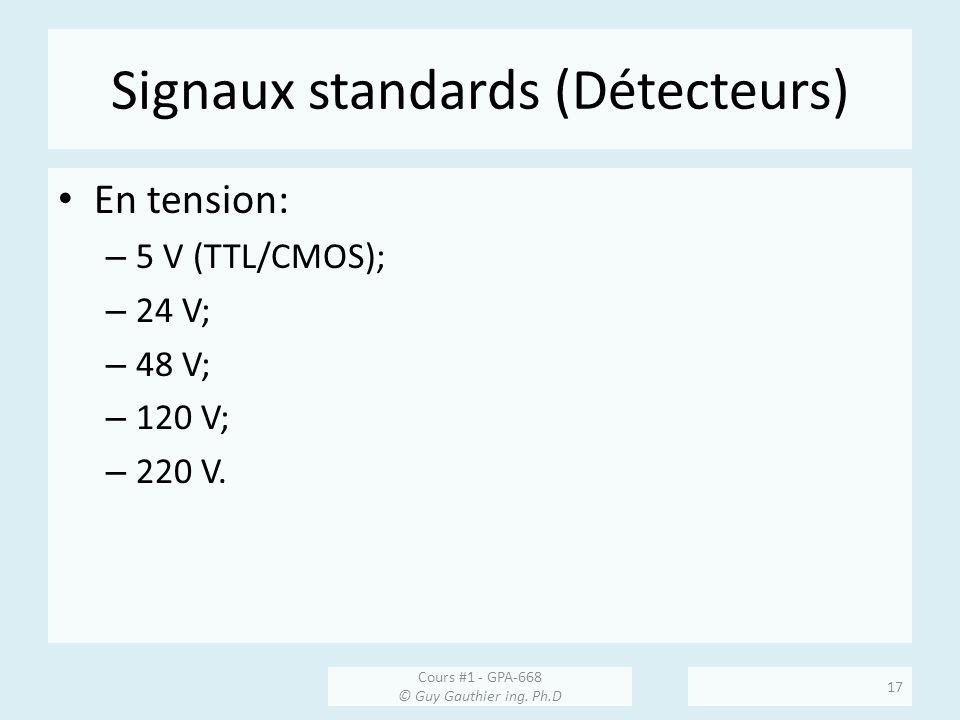 Signaux standards (Détecteurs)