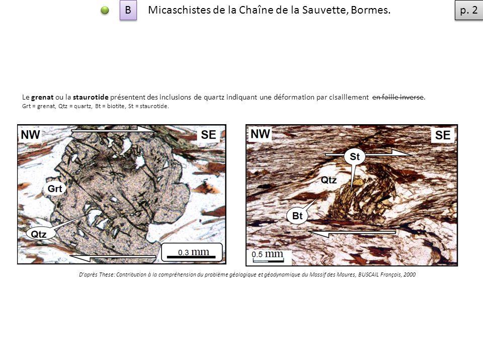 Micaschistes de la Chaîne de la Sauvette, Bormes. p. 2