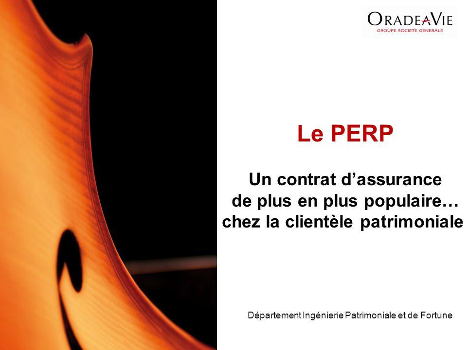 Le PERP Un contrat d'assurance de plus en plus populaire… chez la clientèle patrimoniale