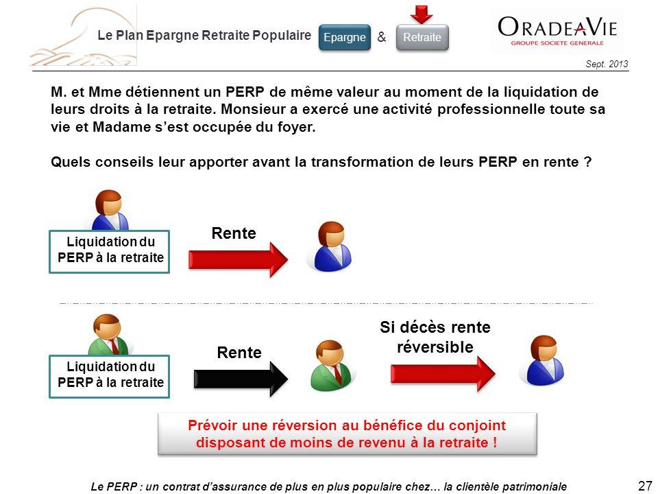 Liquidation du PERP à la retraite