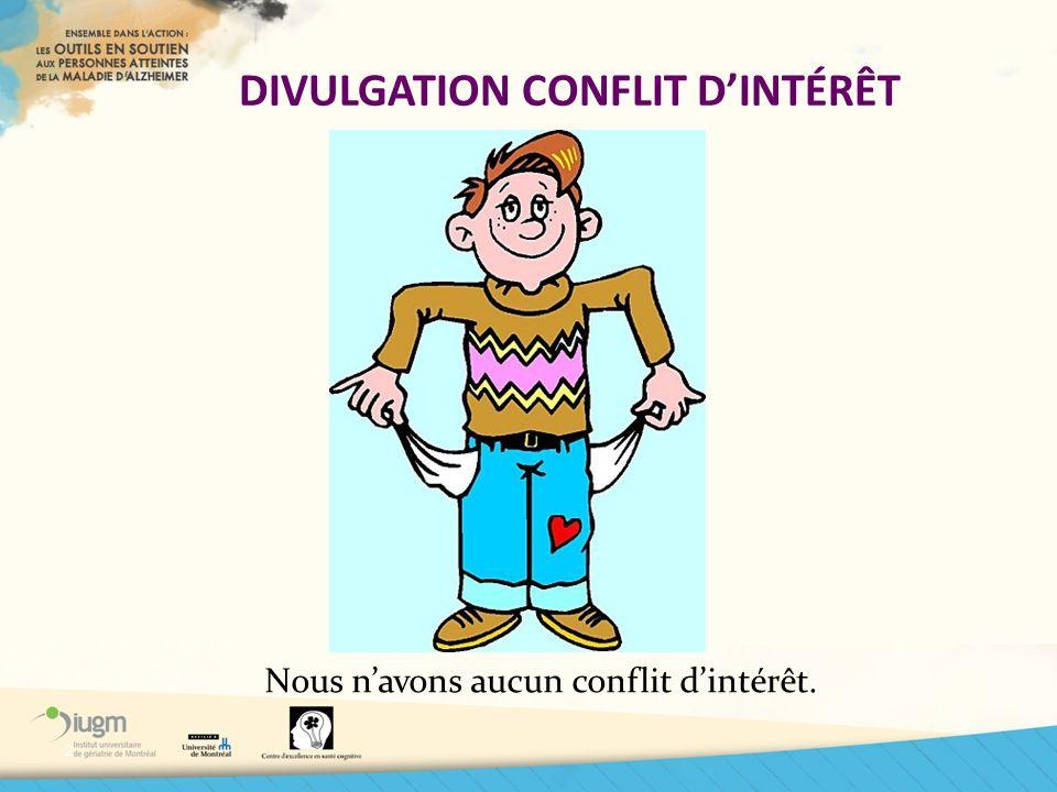 DIVULGATION CONFLIT D'INTÉRÊT