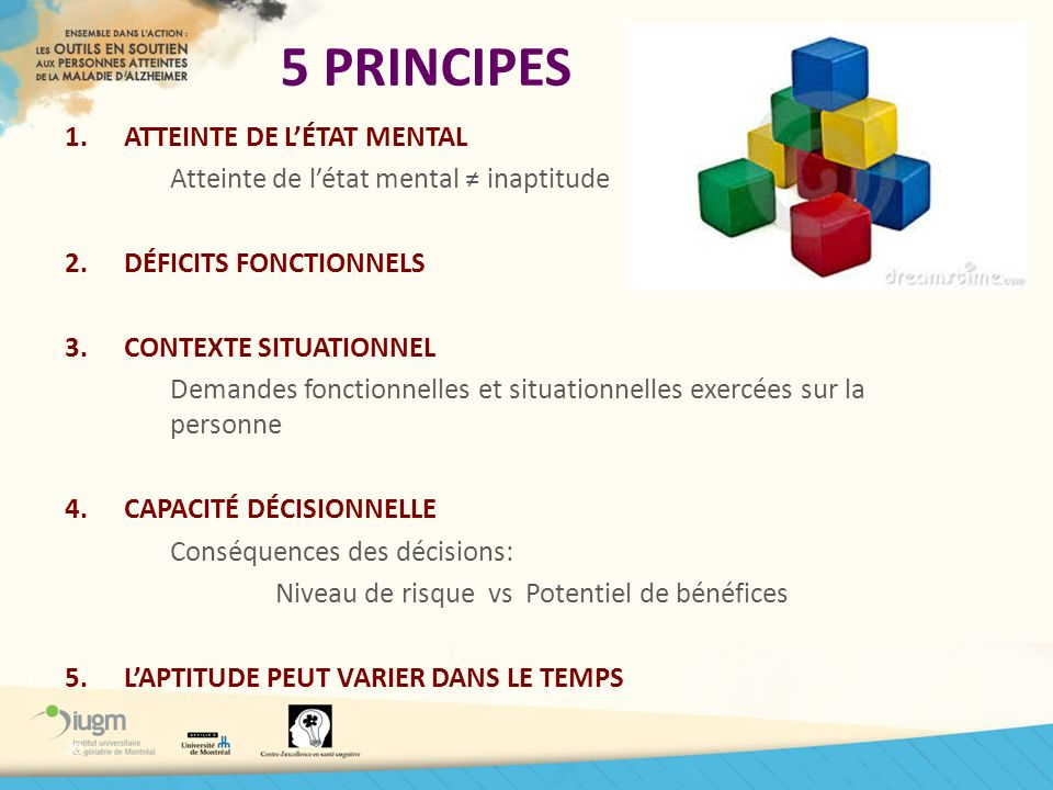 5 PRINCIPES ATTEINTE DE L'ÉTAT MENTAL