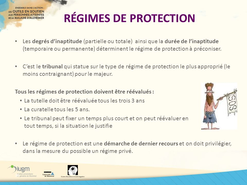 RÉGIMES DE PROTECTION