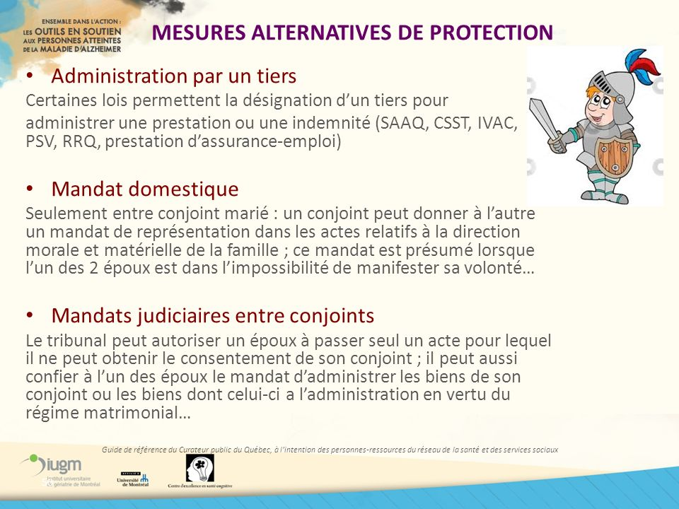 MESURES ALTERNATIVES DE PROTECTION
