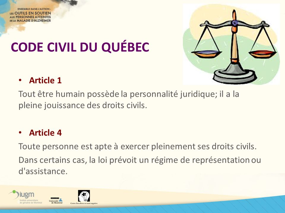 CODE CIVIL DU QUÉBEC Article 1