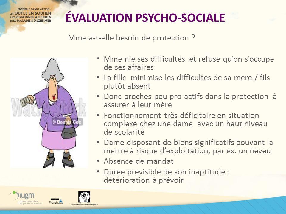 ÉVALUATION PSYCHO-SOCIALE