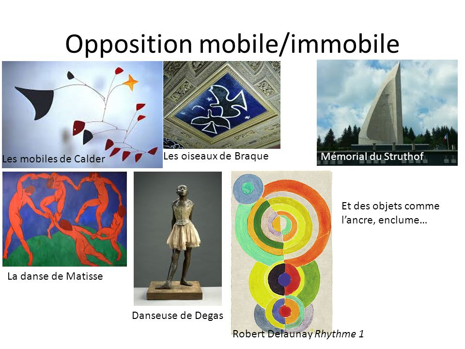 Opposition mobile/immobile