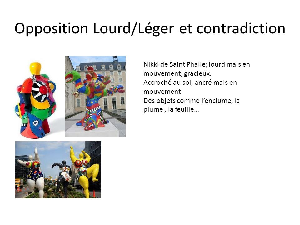 Opposition Lourd/Léger et contradiction