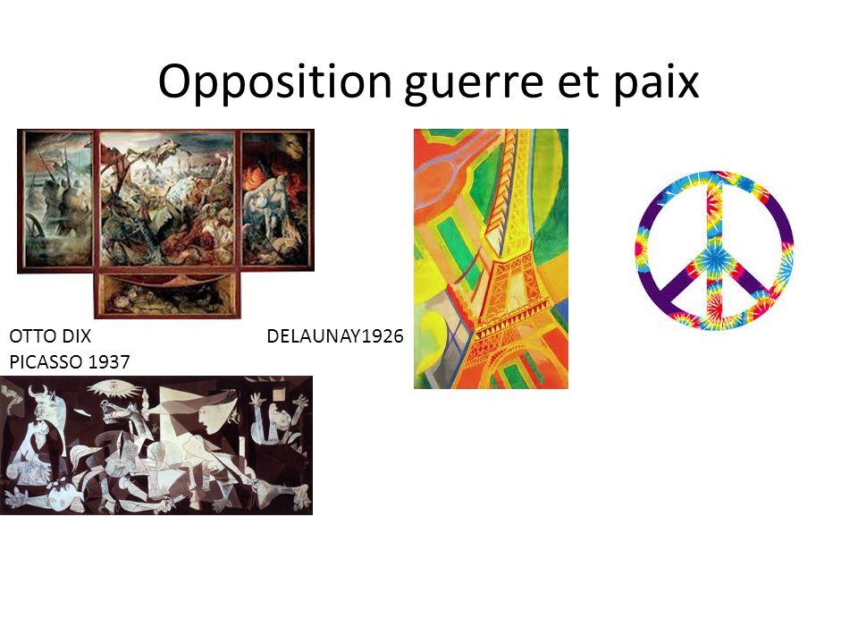 Opposition guerre et paix