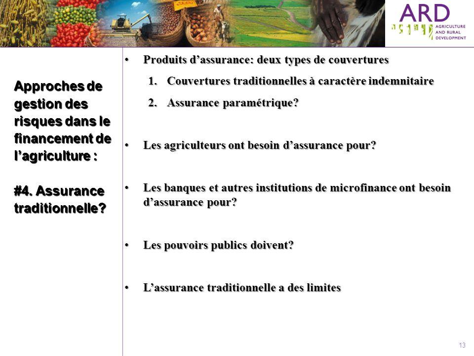 Produits d'assurance: deux types de couvertures