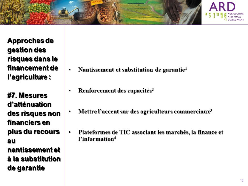 The world bank gestion des risques li s au financement de - Prix de l entree du salon de l agriculture ...