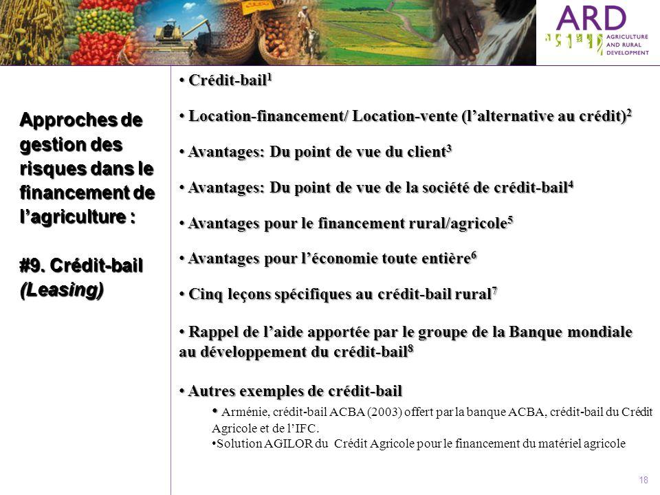 Crédit-bail1 Location-financement/ Location-vente (l'alternative au crédit)2. Avantages: Du point de vue du client3.