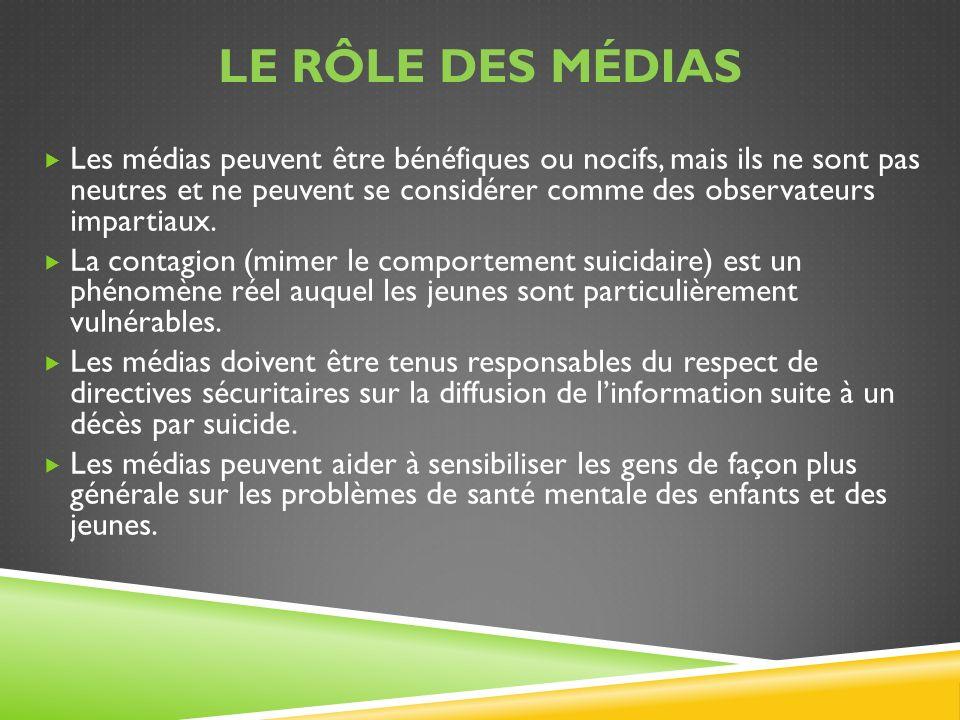 Le rôle des médias