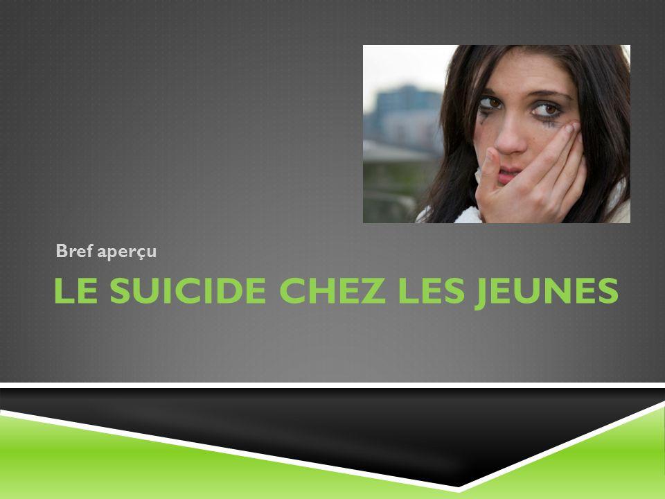 Le suicide chez les jeunes