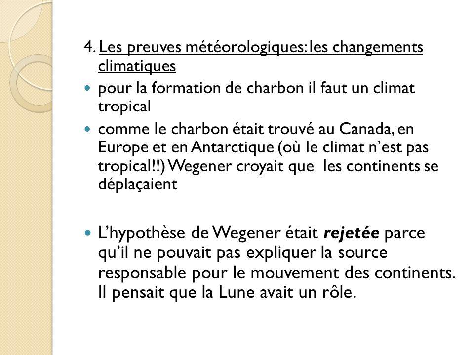 4. Les preuves météorologiques: les changements climatiques