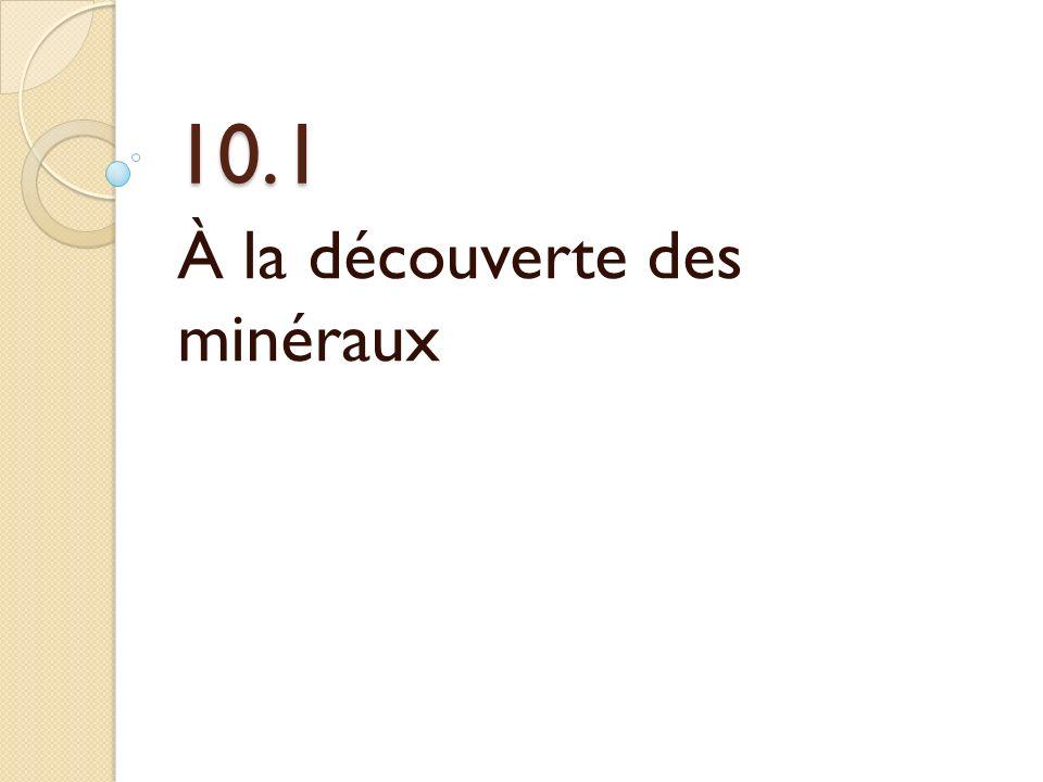 À la découverte des minéraux