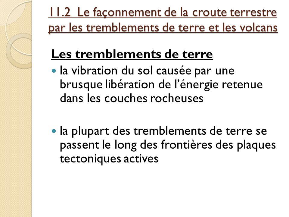 11.2 Le façonnement de la croute terrestre par les tremblements de terre et les volcans