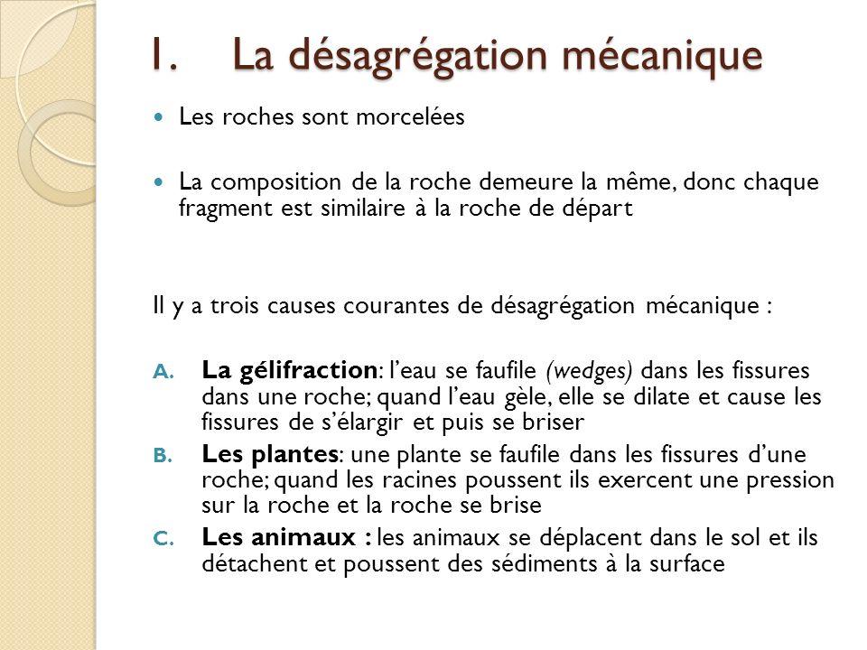 1. La désagrégation mécanique