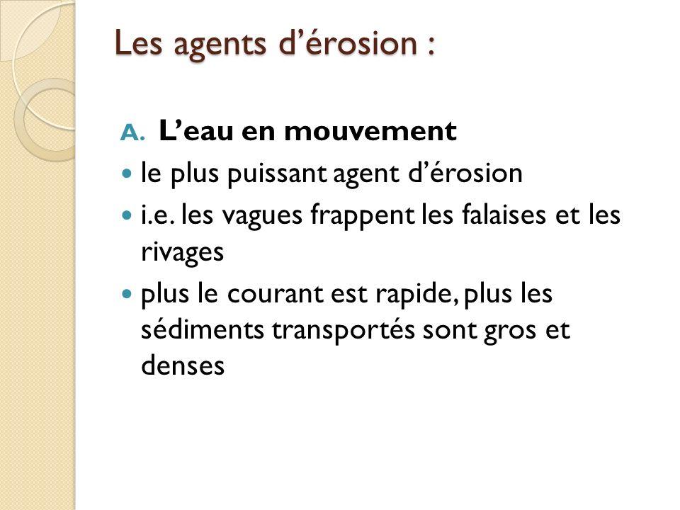 Les agents d'érosion : L'eau en mouvement