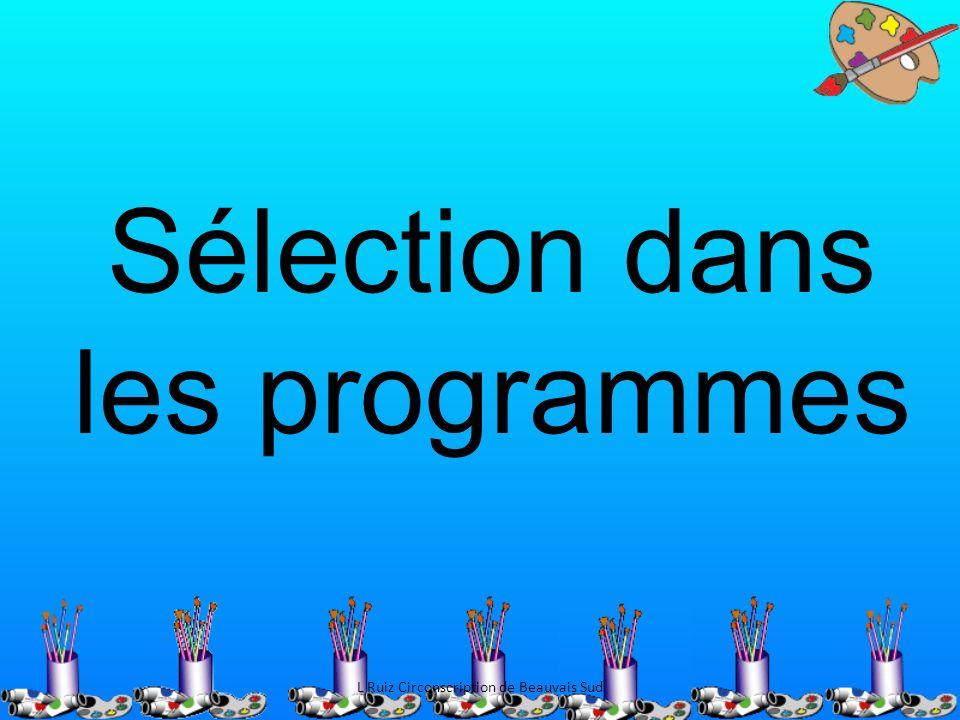 Sélection dans les programmes