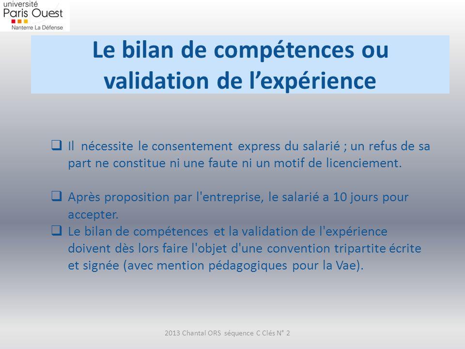 Le bilan de compétences ou validation de l'expérience