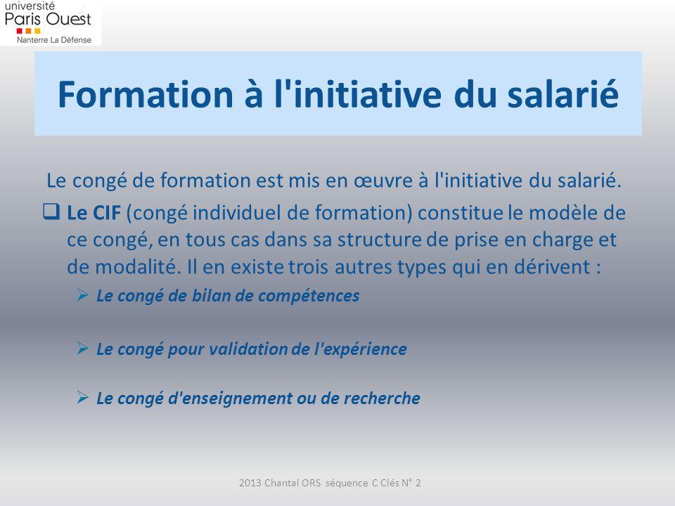 Formation à l initiative du salarié