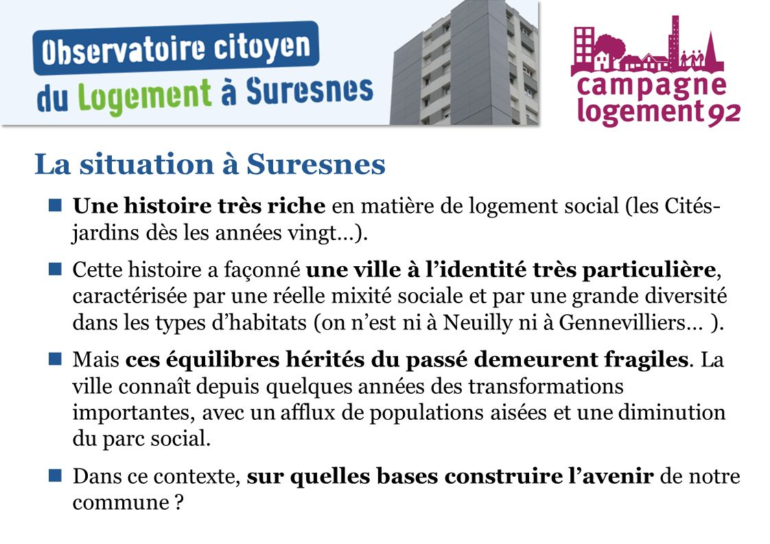 La situation à Suresnes