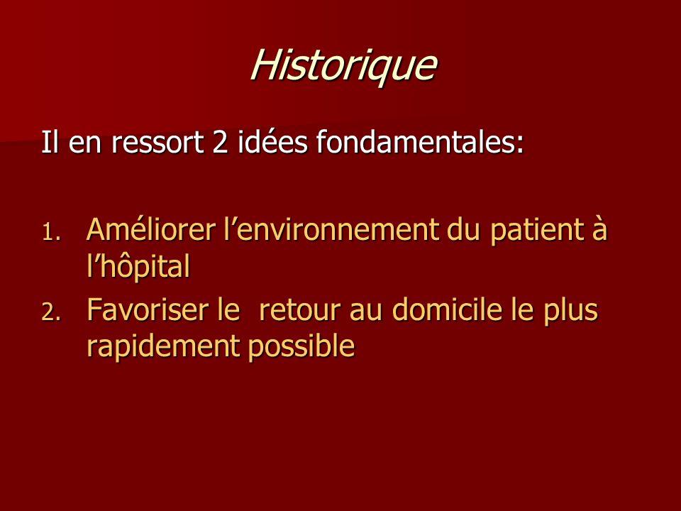 Historique Il en ressort 2 idées fondamentales: