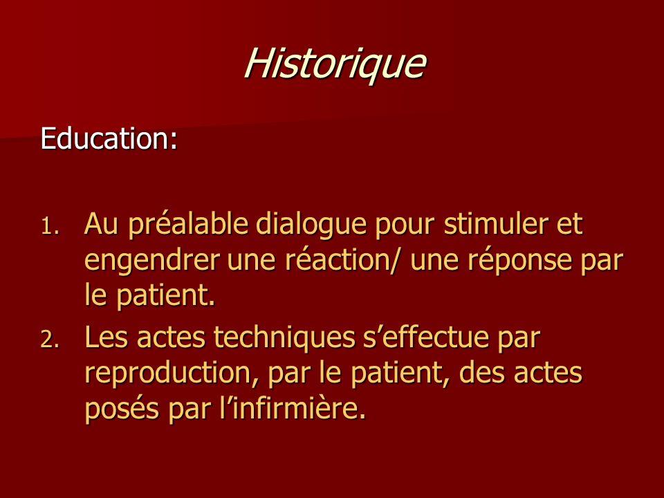Historique Education: