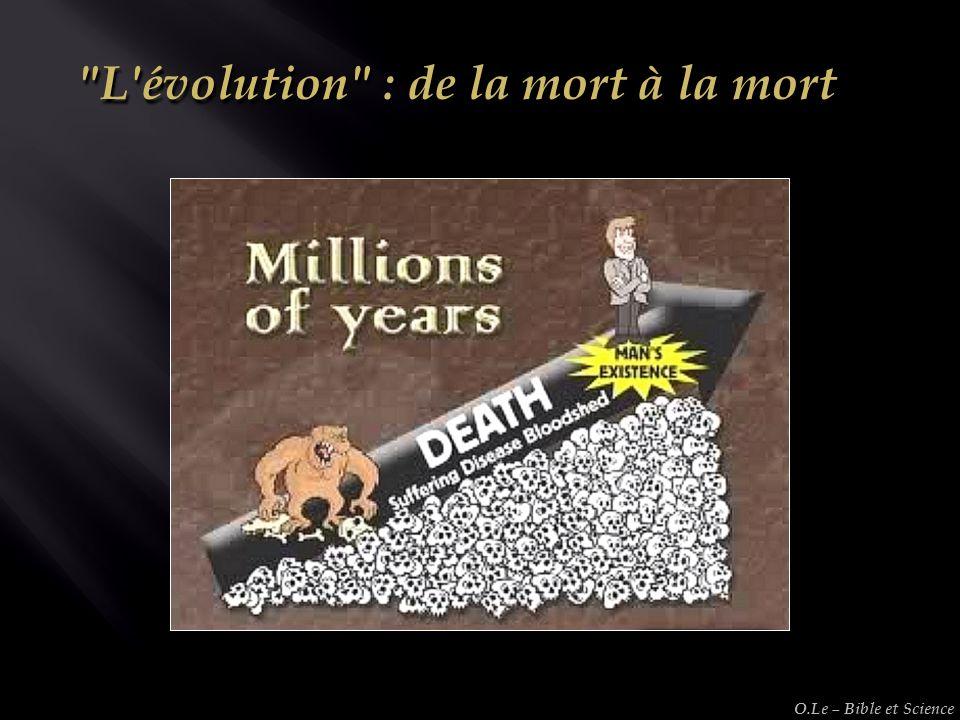 L évolution : de la mort à la mort