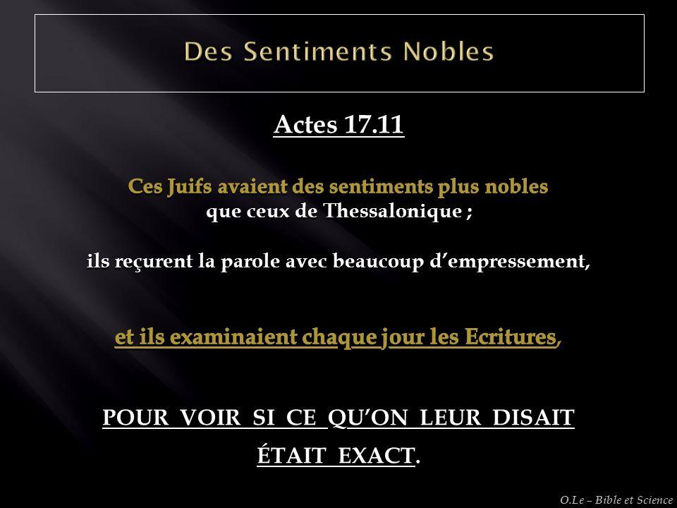 Des Sentiments Nobles Actes 17.11