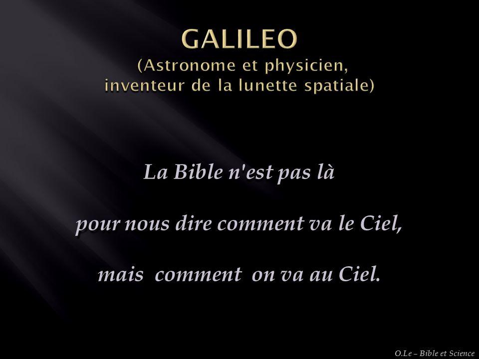 GALILEO (Astronome et physicien, inventeur de la lunette spatiale)