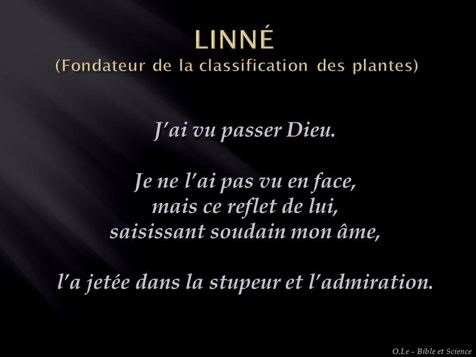 LINNÉ (Fondateur de la classification des plantes)