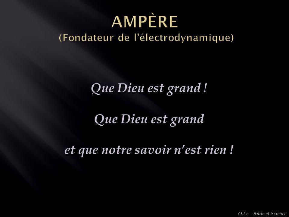 AMPÈRE (Fondateur de l'électrodynamique)