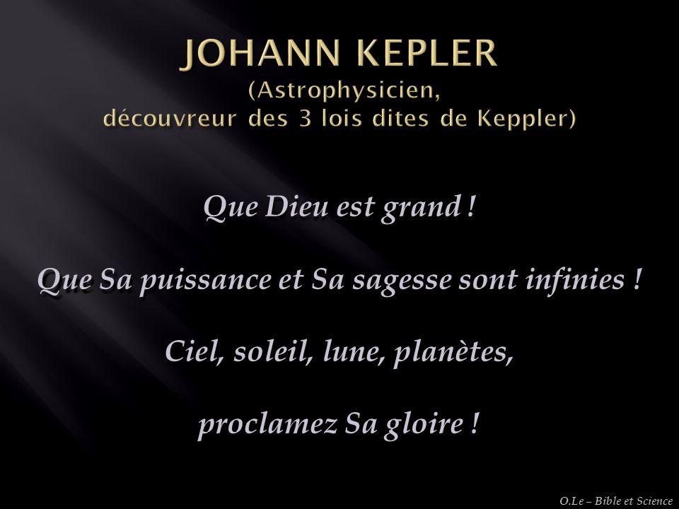 JOHANN KEPLER (Astrophysicien, découvreur des 3 lois dites de Keppler)